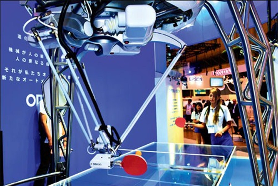 Table tennis robot stars at Japanese tech show