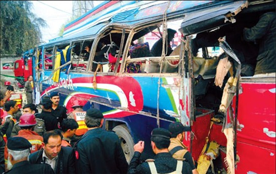 17 killed by bus blast in northwest Pakistan