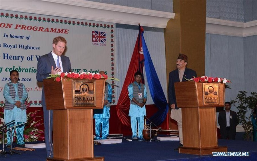 British royal Prince Harry visits Nepal