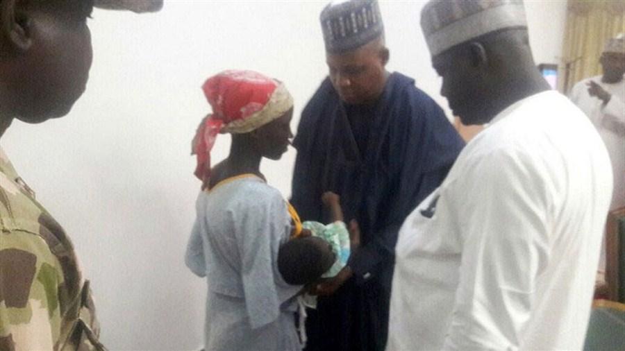 Rescued schoolgirl meets the president