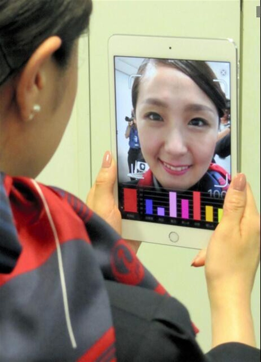 Japan firm rolls out smile-rating app