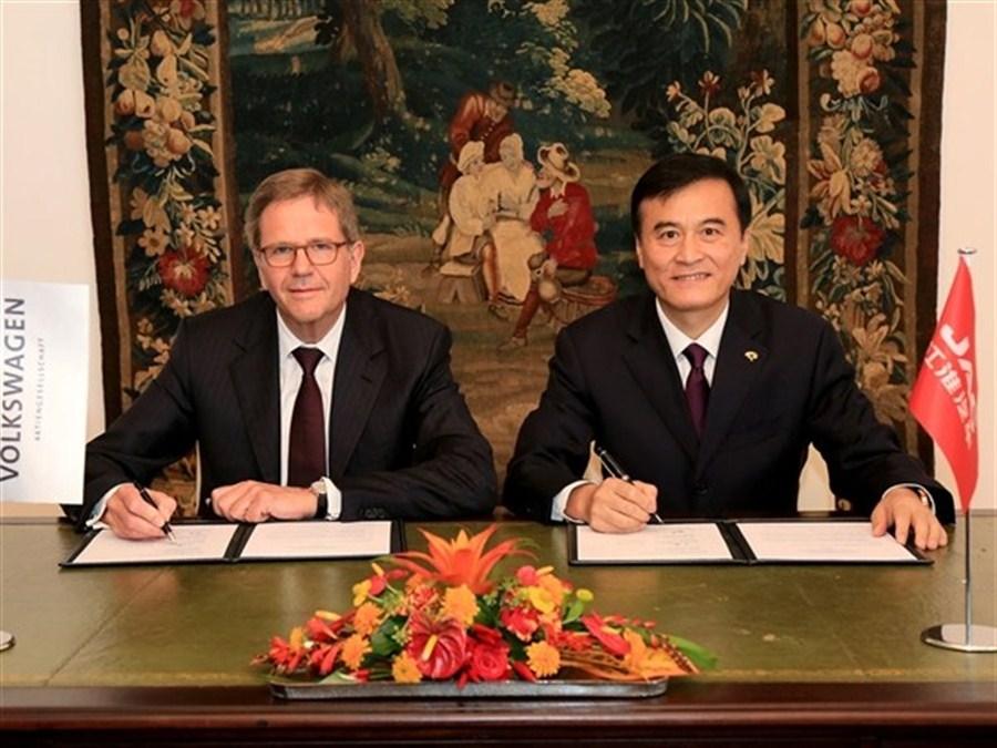 VW and Jianghuai to set up new energy vehicle JV