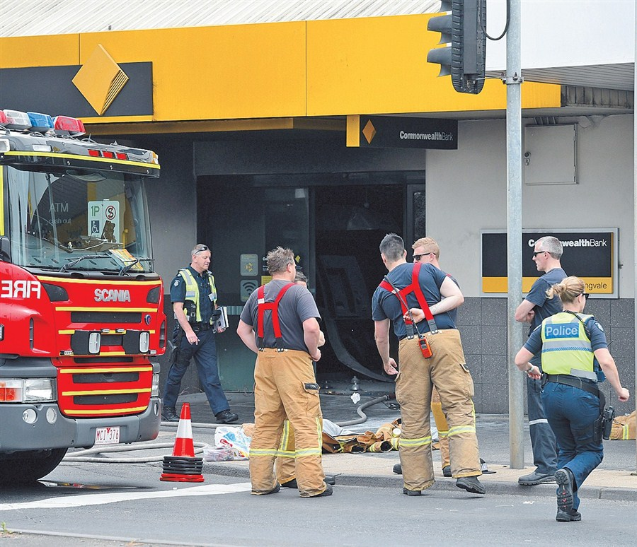 26 injured after man starts inferno in Australian bank