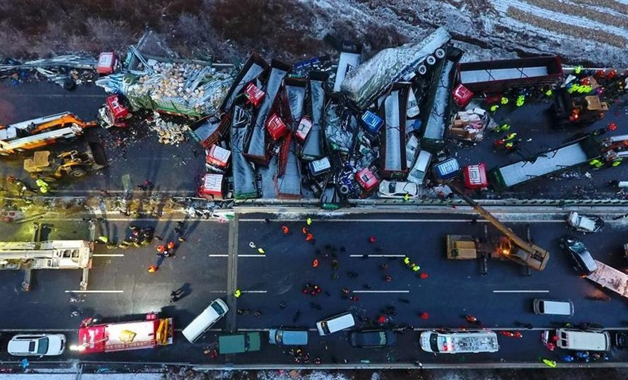 17 killed, 37 injured in Shanxi highway collision