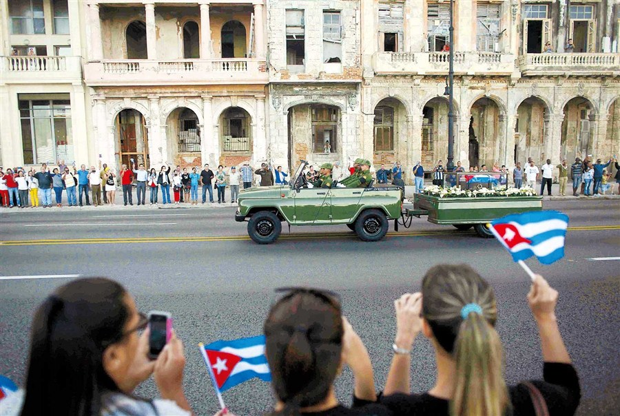 I am Fidel!: Castro's ashes begin his final journey across the nation
