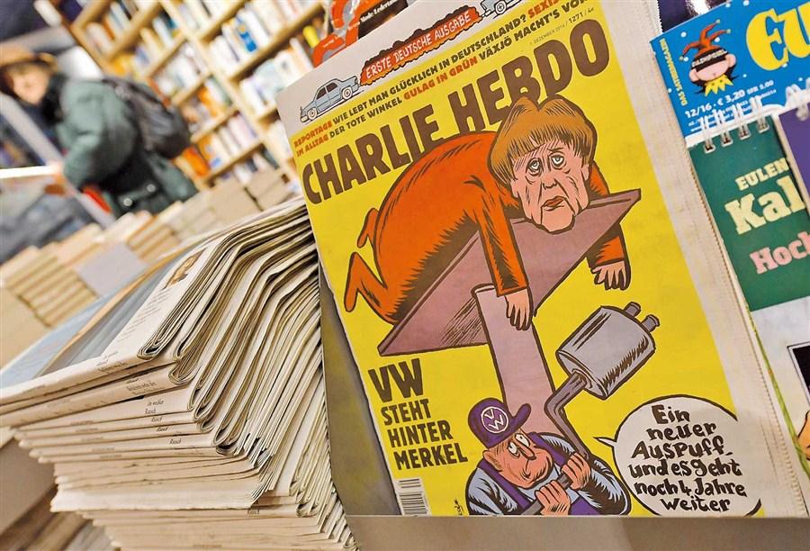 Charlie Hebdo mocks Merkel as French magazine hits Germany
