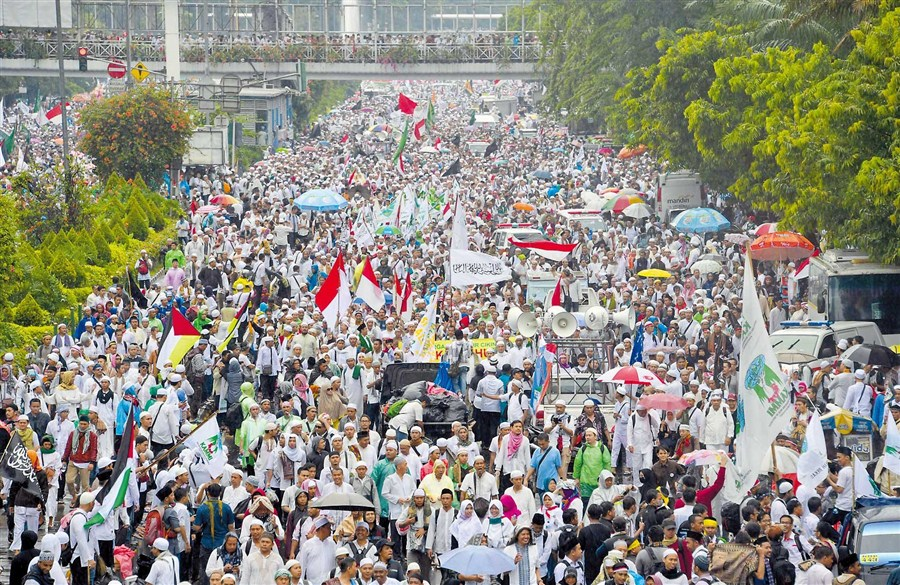Indonesia protest attracts 200,000