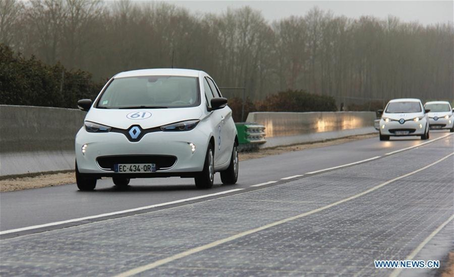 France installs world's first solar road