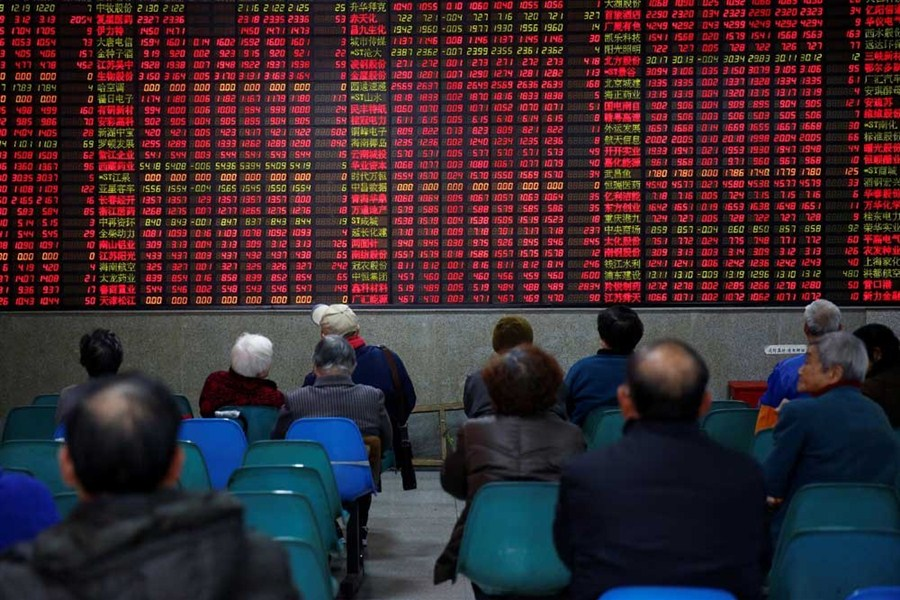 Positive economic figures spur Shanghai stocks to rise over 1%