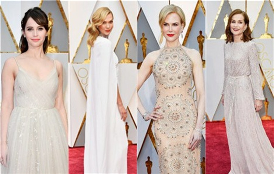 High style and politics on Oscars red carpet