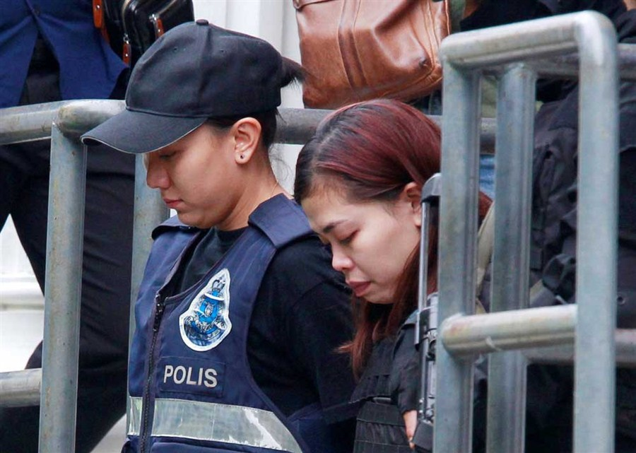 Airport killing: 2 women charged with murder in Malaysian court