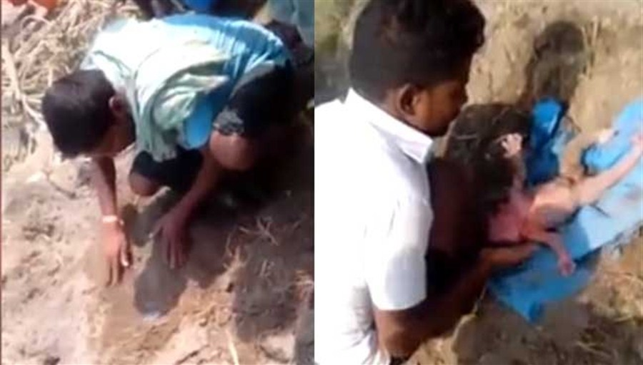 Indian girl 'buried alive by her father'