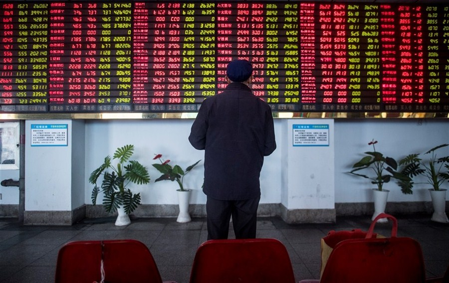 Shares tumble to a six-month low