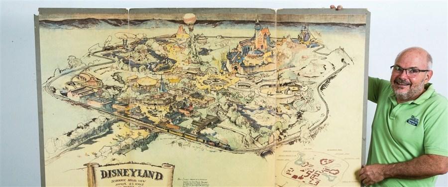 Original Disneyland concept art shows park origins, growth