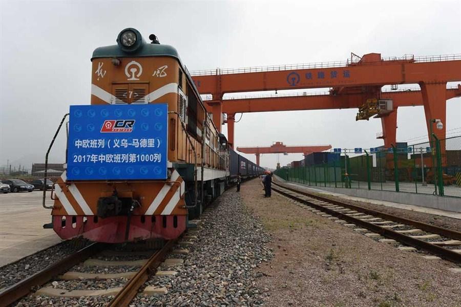 1,000th Sino-European freight train