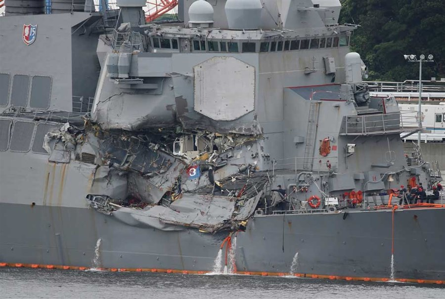 Missing sailors' bodies found after early morning collision