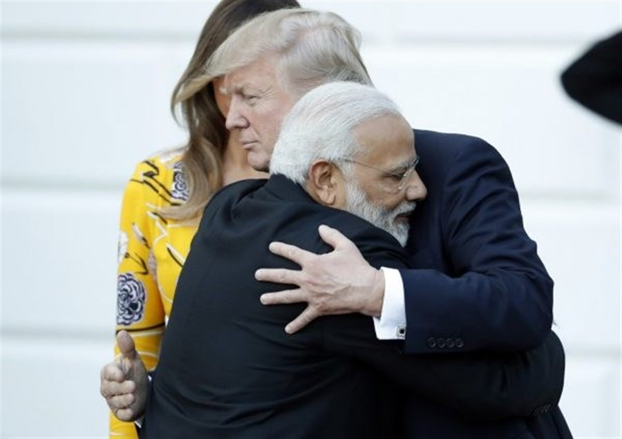 Trump doesn't get hump after his hugging
