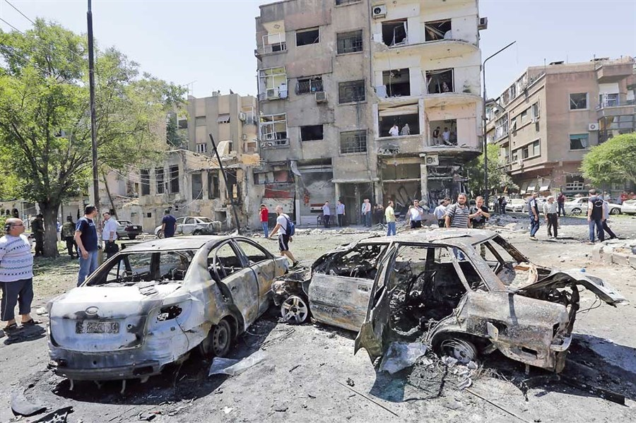 18 dead as major suicide bomb strikes Damascus