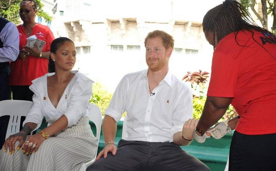 Britain's Prince Harry says lack of education on HIV is 'absurd'