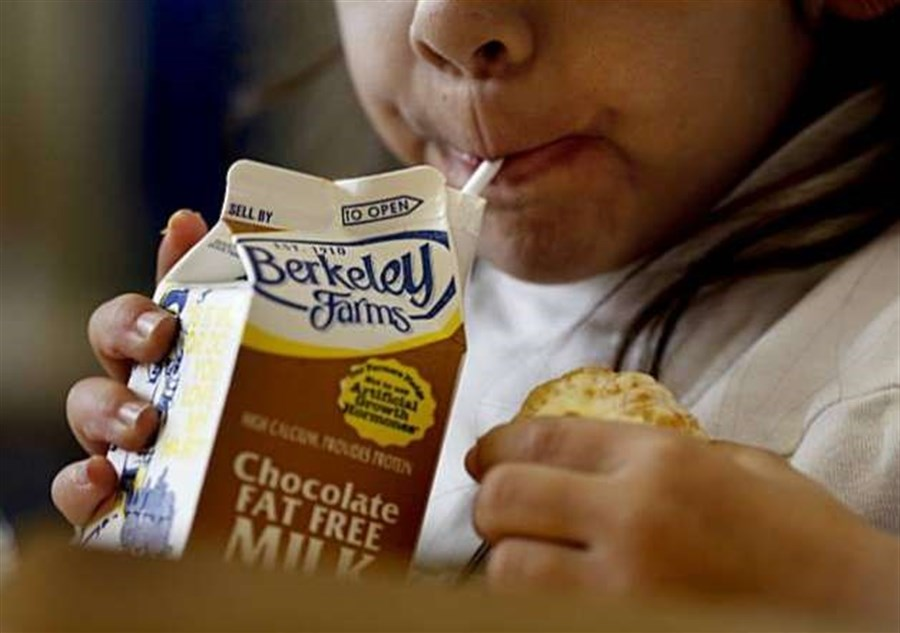 San Francisco school bans chocolate milk for kids
