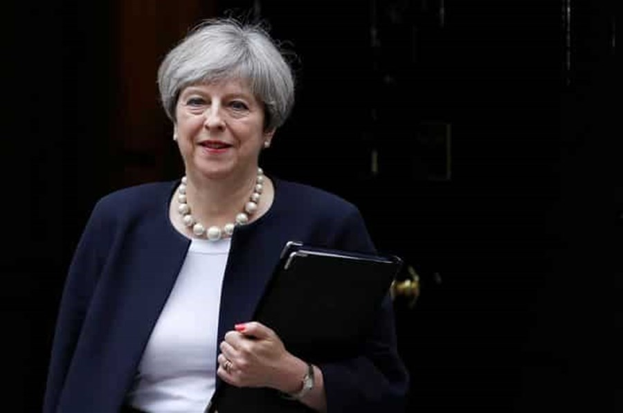 UK's prime minister facing a challenge over EU repeal bill