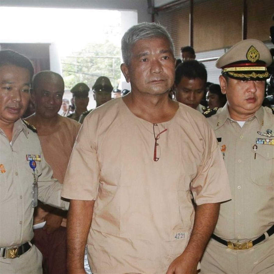 Thai general guilty in trafficking trial