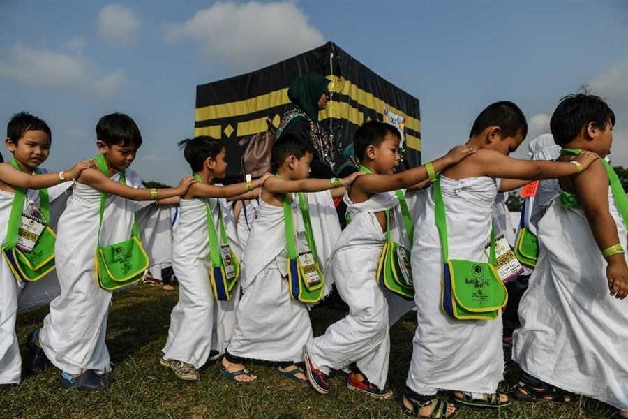 Practicing for the hajj at early age