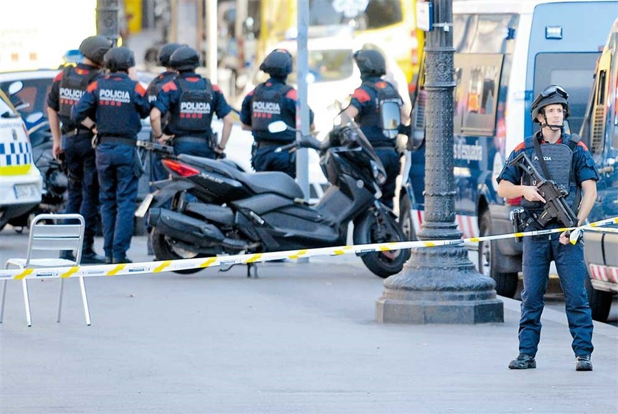 Barcelona terror attack as van hits pedestrians