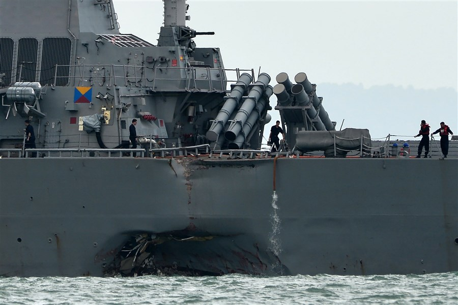 US Navy orders pause after ships collide