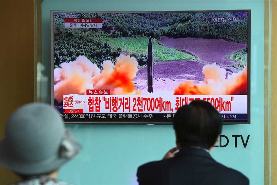 NK's latest missile flies over Japan