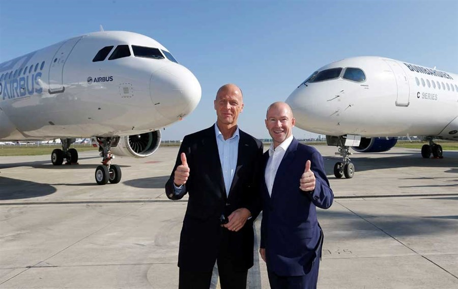Airbus teams up with Canada's Bombardier on CSeries project