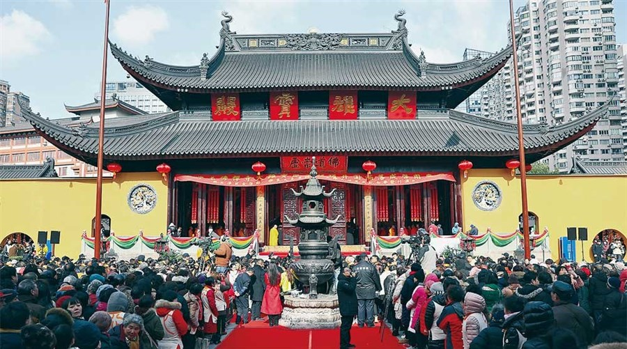Temple pavilion reopens after renovation