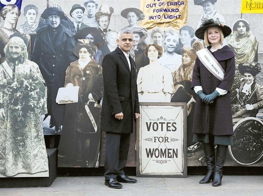 UK marks women's suffrage centenary