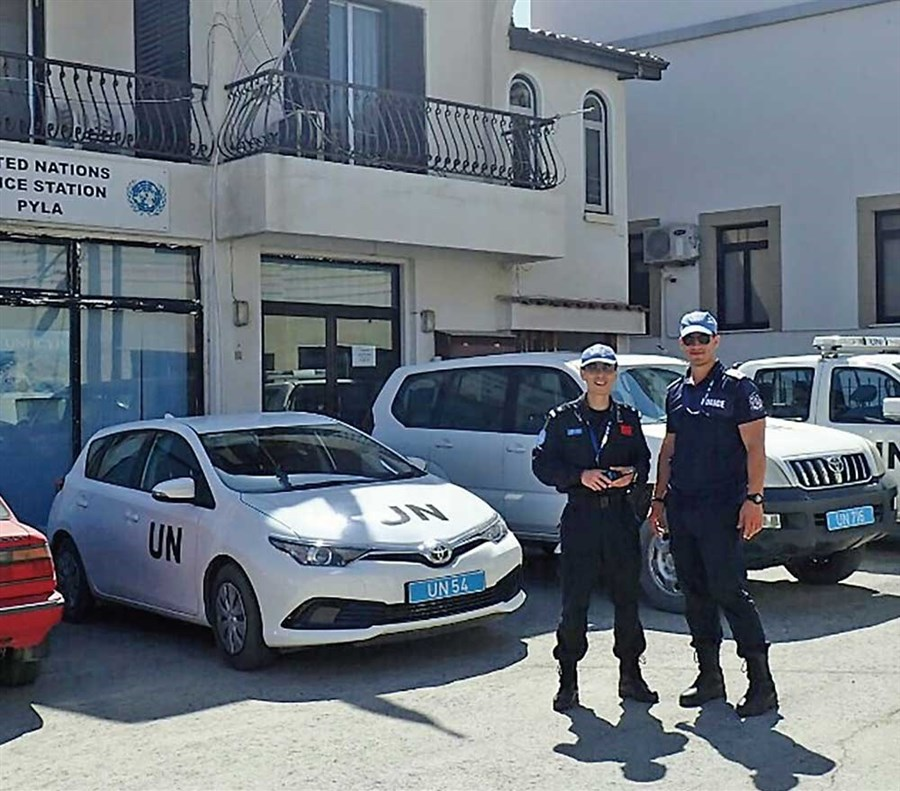 Policeman ends Cyprus UN stint, mindful 'peace never comes easy'