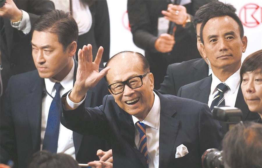Hong Kong's Li to retire on May 10 and eldest son Victor to take over