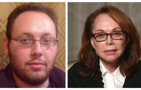 Left: U.S. journalist Steven Sotloff is pictured in this undated handout photo obtained by Reuters August 20, 2014. Right: Shirley Sotloff, the mother of American journalist Steven Sotloff who is being held by Islamic rebels in Syria, makes a direct appeal to his captors to release him in this still image from a video released August 26, 2014. The Islamic State militant group released a video purporting to show the beheading of hostage Steven Sotloff, the SITE monitoring service reported on September 2, 2014.