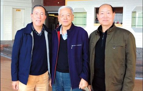 From left: Li Li, Chen Zhengming and Yan Yihua reunited. — Yang Meiping