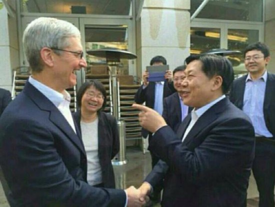 China's cyberspace admin. chief visits Facebook, Apple, Amazon