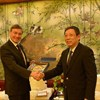 Mayor talks with EU ambassador to China