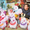 Hopping along to see traditional craft of making rabbit lanterns