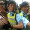 3 arrests as anger over HK shopping ends in scuffles