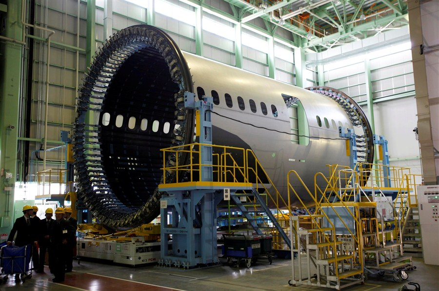 New Plant For B787 Fuselage Shanghai Daily