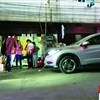 Unlicensed female driver critically injures toddler
