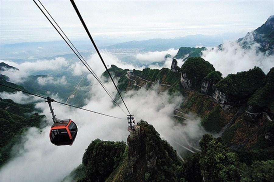 Zhangjiajie offers a mountain that reaches 'heaven's door'