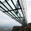 Visitors capped at first glass bridge