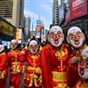 Flash mob in monkey costumes appears in NYC to mark CNY