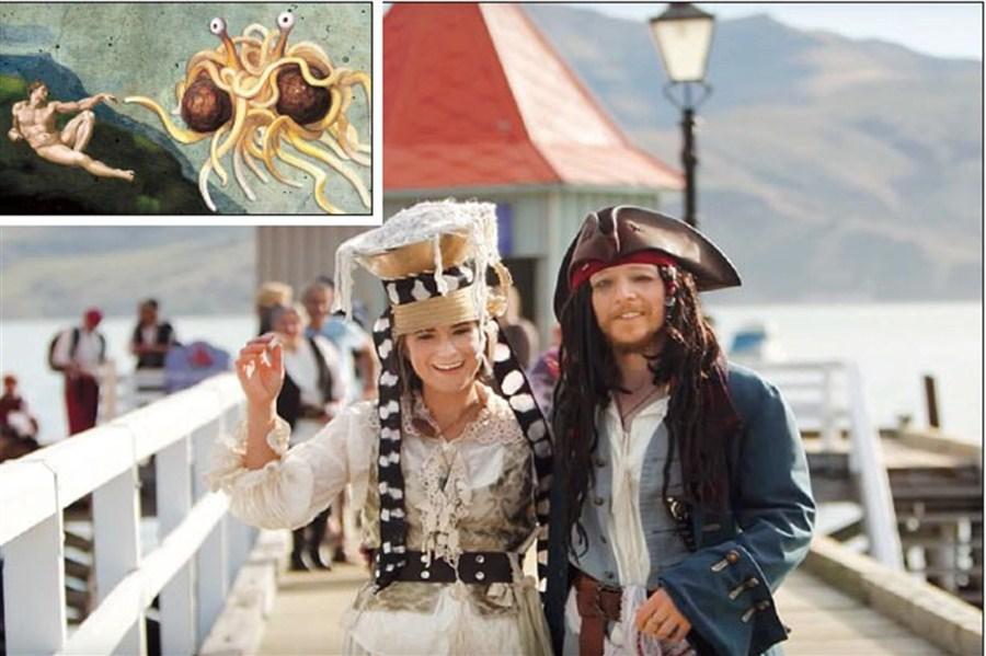 Pastafarian pirate wedding