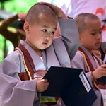 Ceremony entitled 'Children Becoming Buddhist Monks'