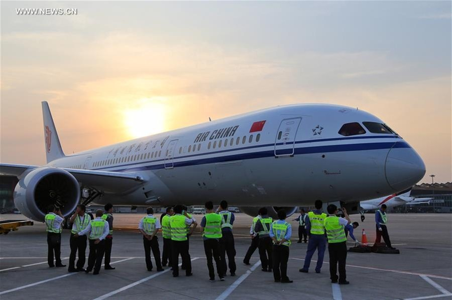 Air China receives 1st Boeing 787-9 Dreamliner