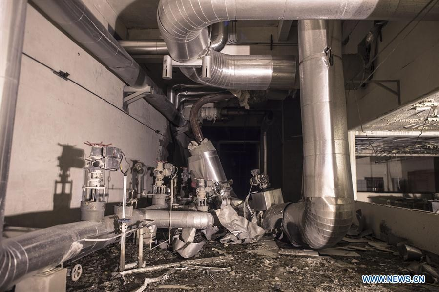 Photo taken on Aug. 12, 2016 shows the explosion site at a power plant in Dangyang, central China\'s Hubei Province. A preliminary investigation has shown that the explosion which killed 21 on Thursday in central China\'s Hubei Province was caused by a broken pipe, local authorities said. A high-pressure steam pipe exploded at Madian Gangue Power Generation Co. Ltd. in Dangyang City around 3:20 p.m. At least 21 people were killed and five others injured. Three of the injured are in a critical condition.